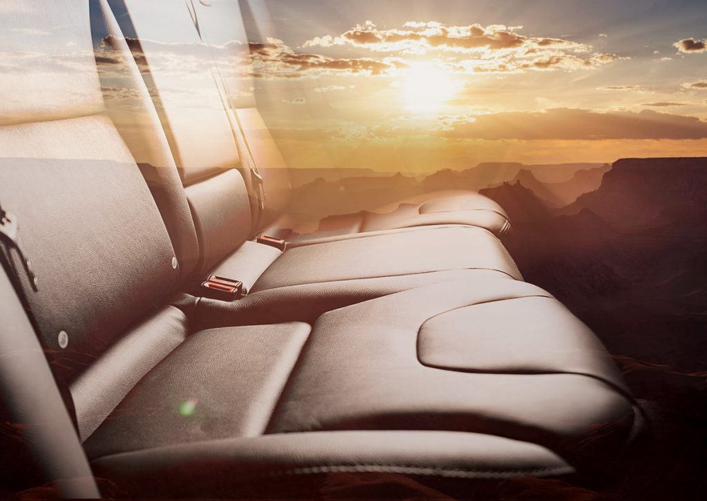 Vehicle Leather protected by ResistAll NG2 from Sun & Ultra Violet (UV) rays with a sandy background